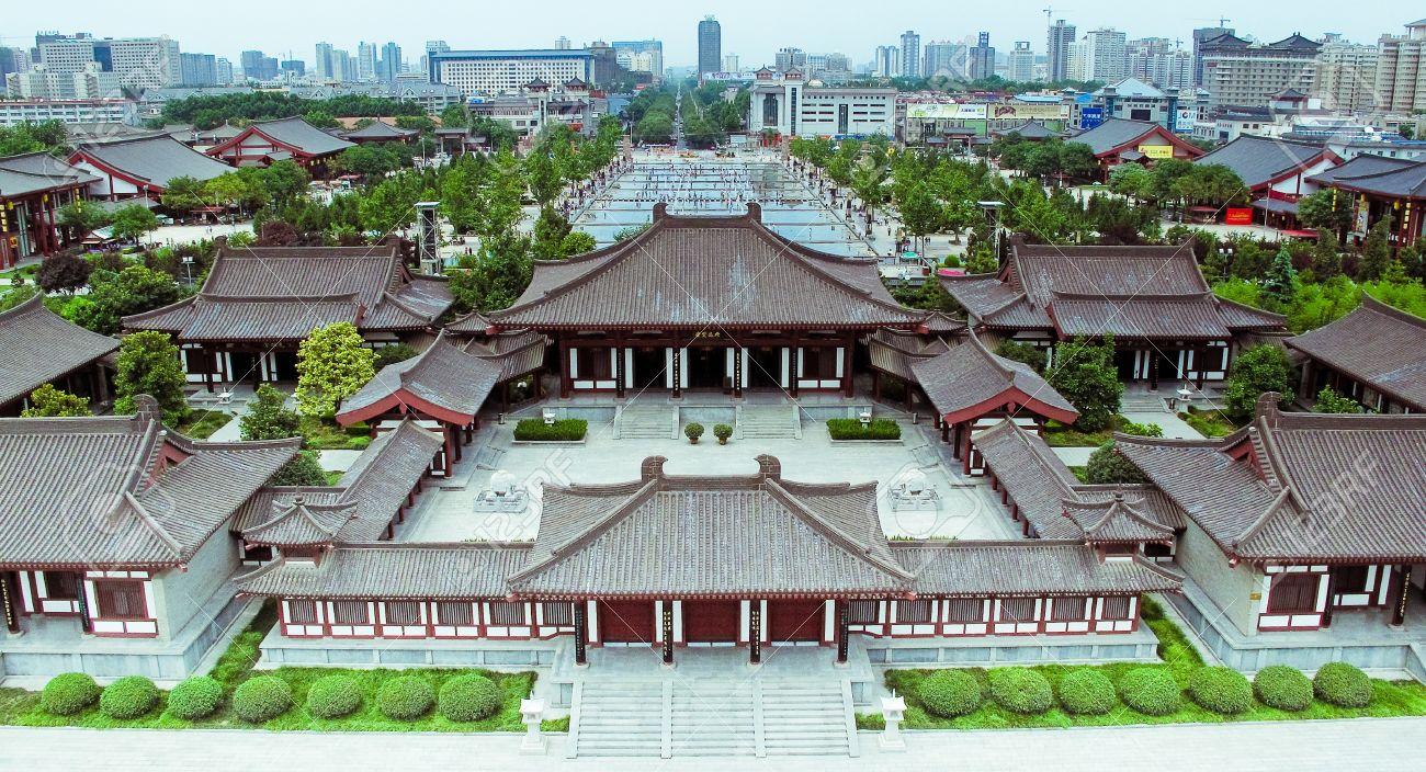 Resultado de imagem para vista aerea de xian