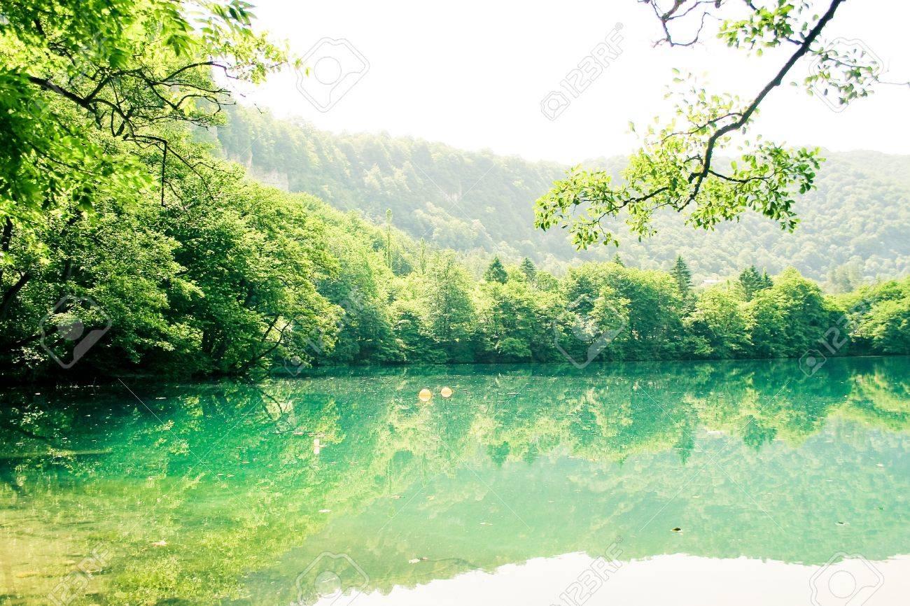 beautiful lake landscape - 9727171