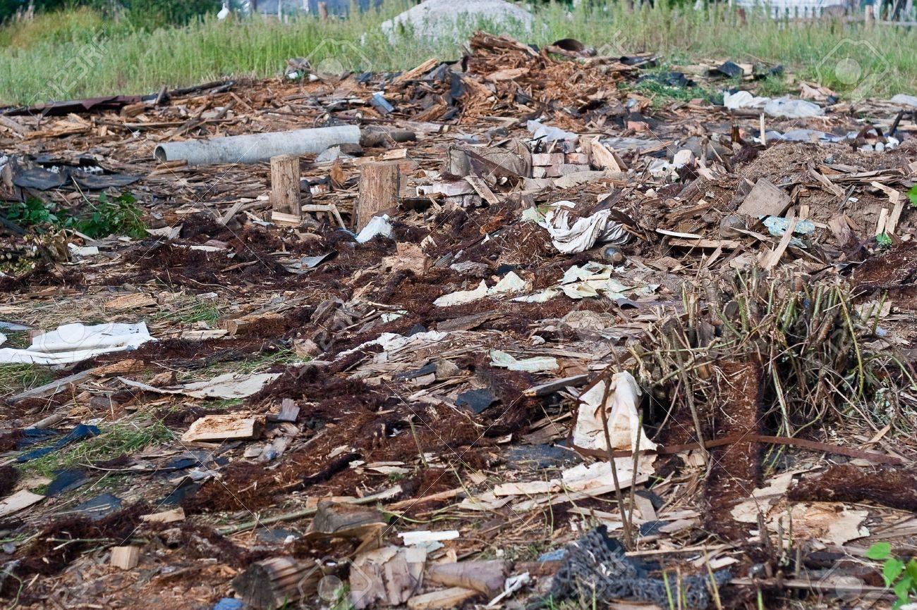A pile of debris of destroyed building - 10522686