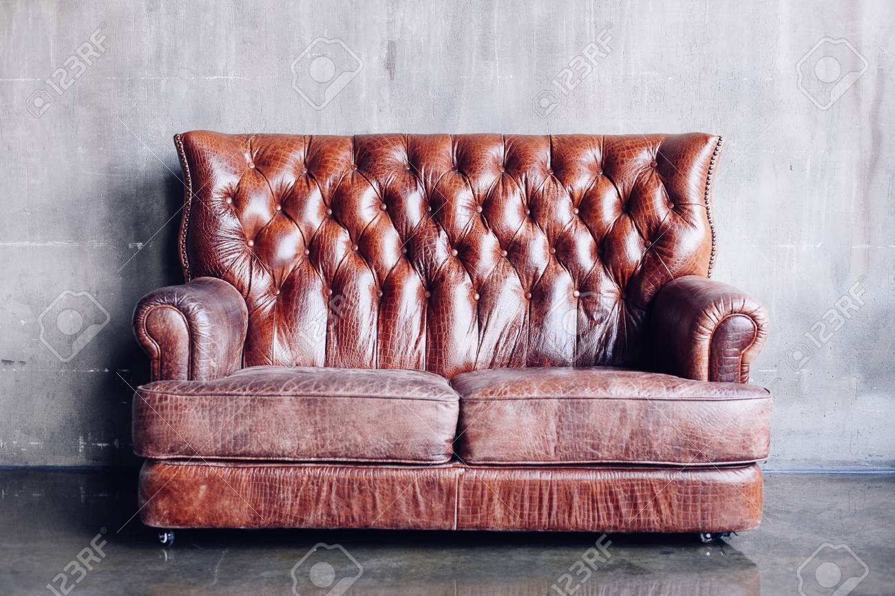 Super Beautiful Living Room With Vintage Style Leather Sofa Dailytribune Chair Design For Home Dailytribuneorg