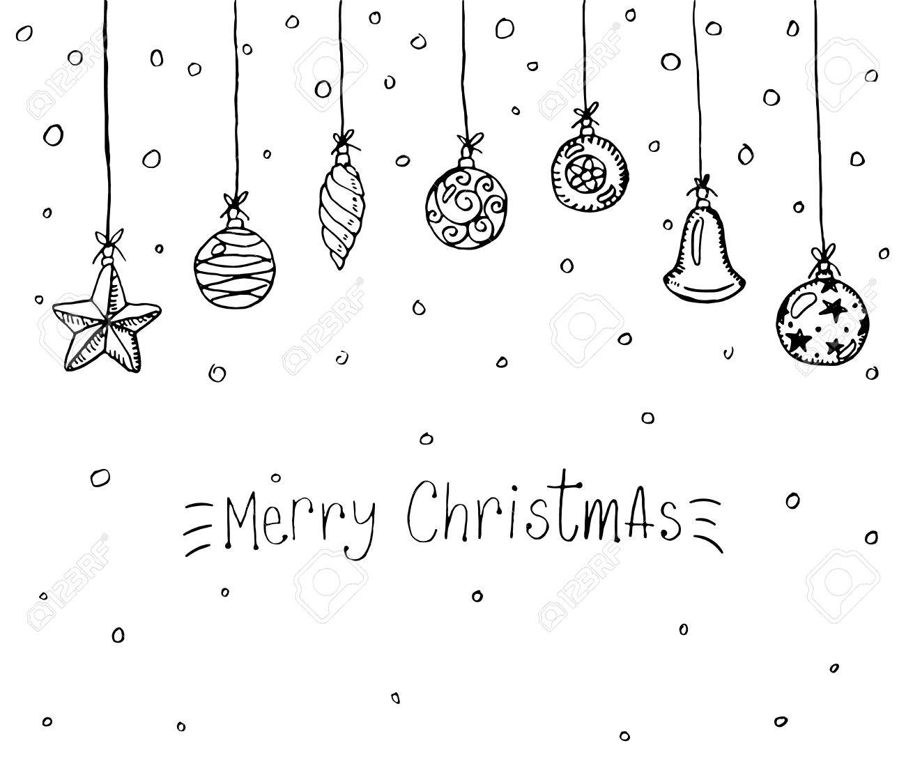 Merry Christmas Doodle Greeting Card