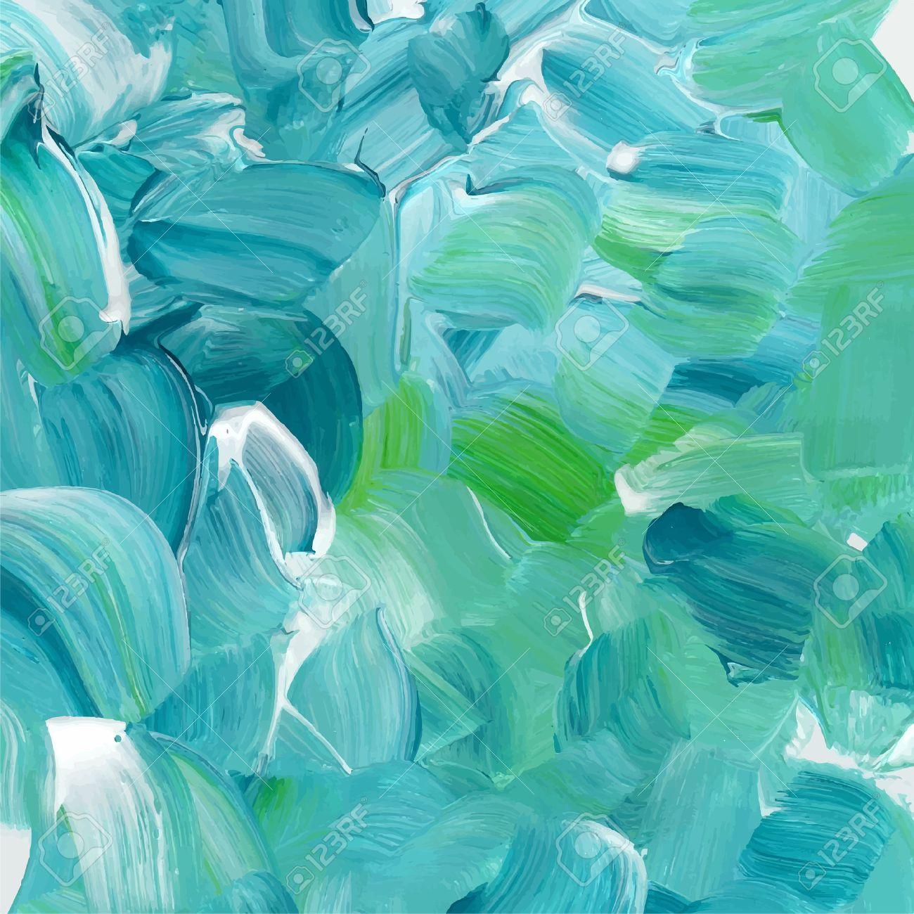 turquesa azul textura de la pintura de aceite foto de archivo