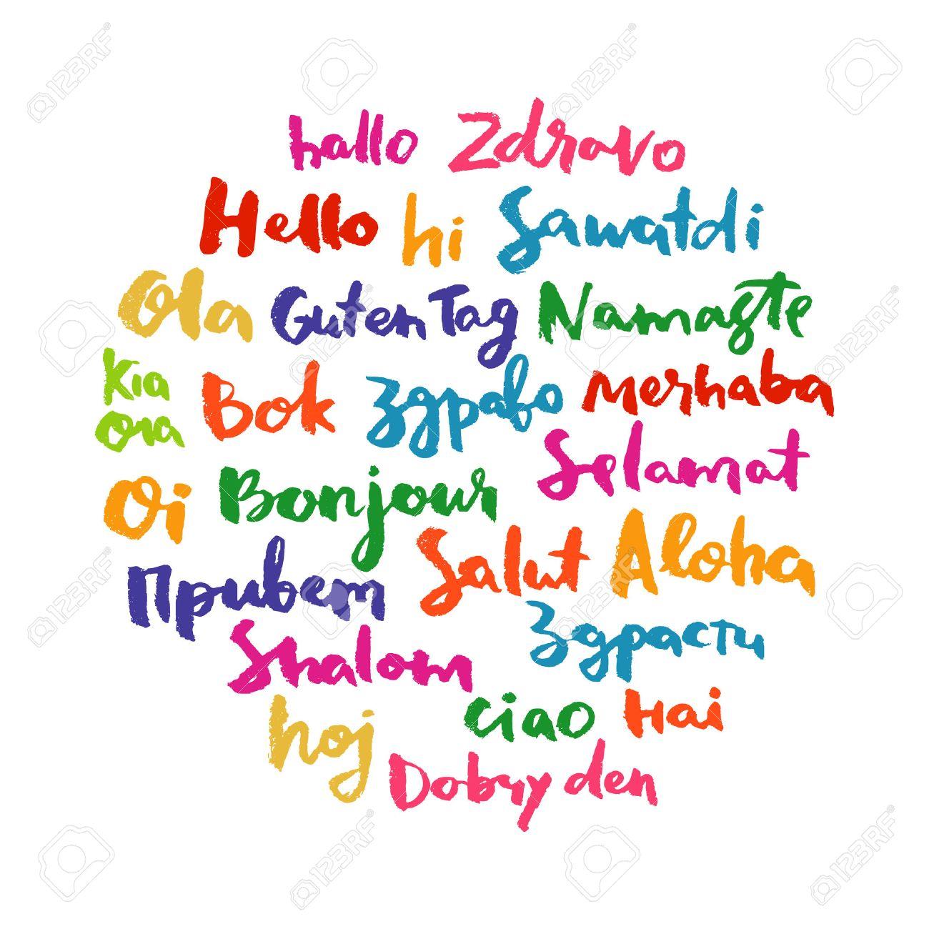 in verschiedenen sprachen begrüßen