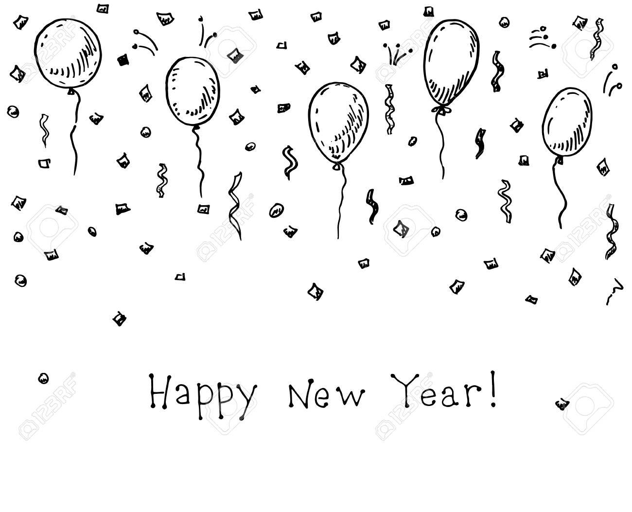 Happy New Year Doodle 7