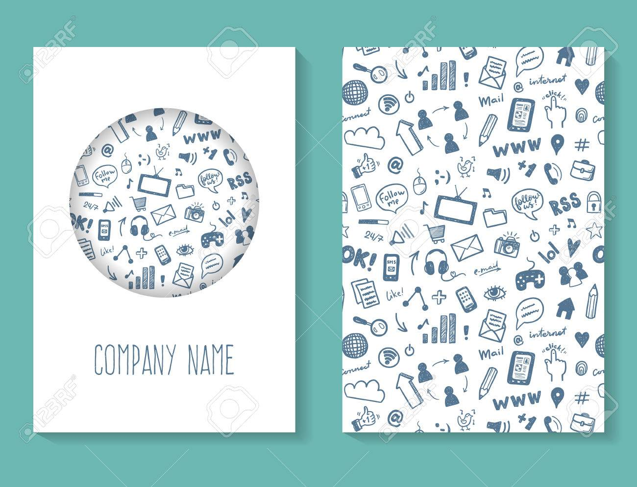 Social media brochure business card template royalty free cliparts social media brochure business card template stock vector 55687614 accmission Image collections