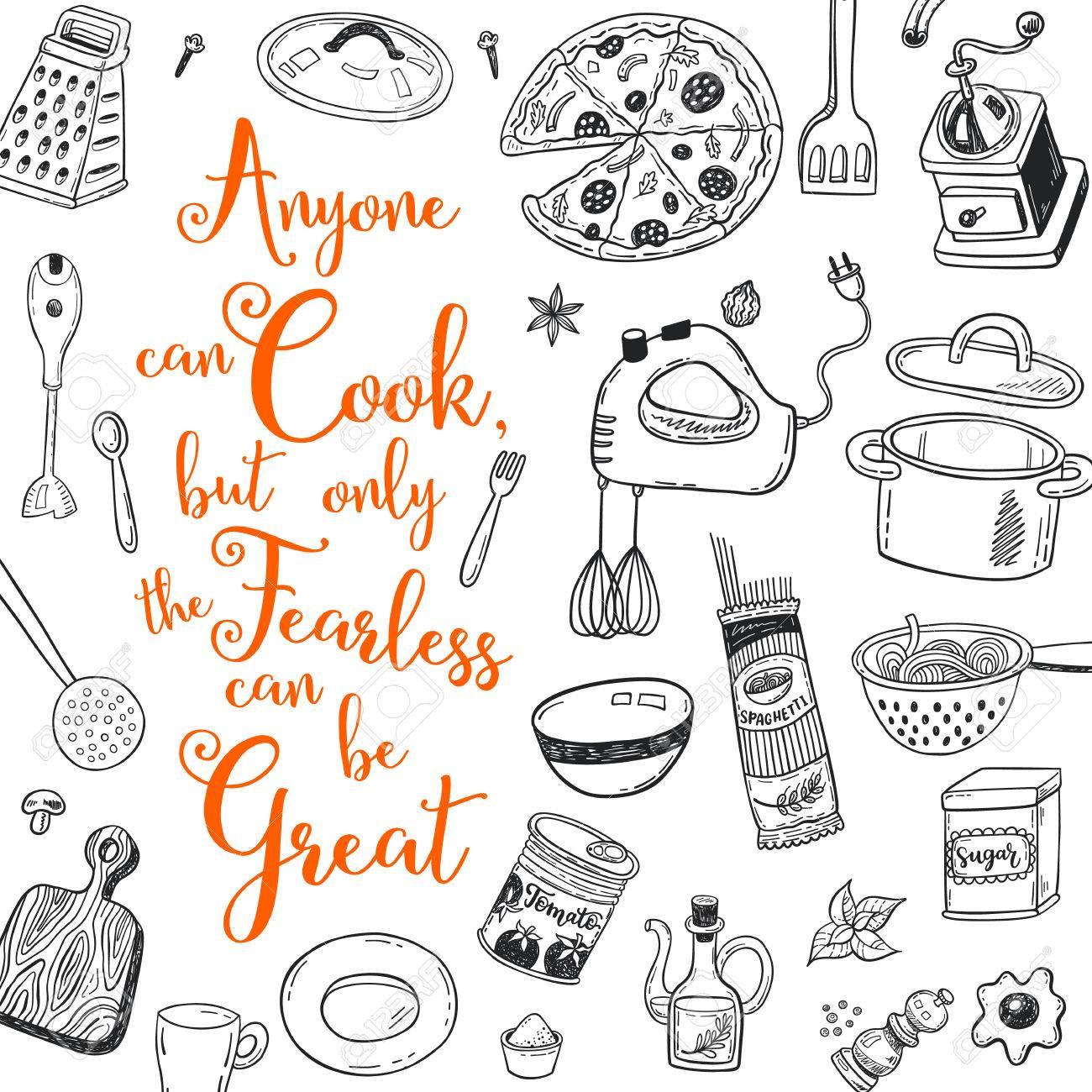 Vettoriale - Chiunque Può Cucinare, Ma Solo L\'impavido Può Essere ...
