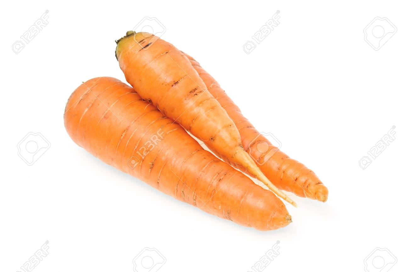 Carrots in isolated white background Stock Photo - 5380028