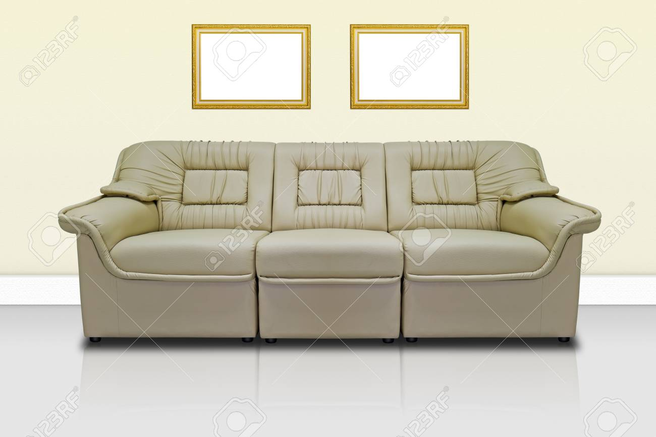 Beige modern sofa  for office, home or hotel Stock Photo - 11945086