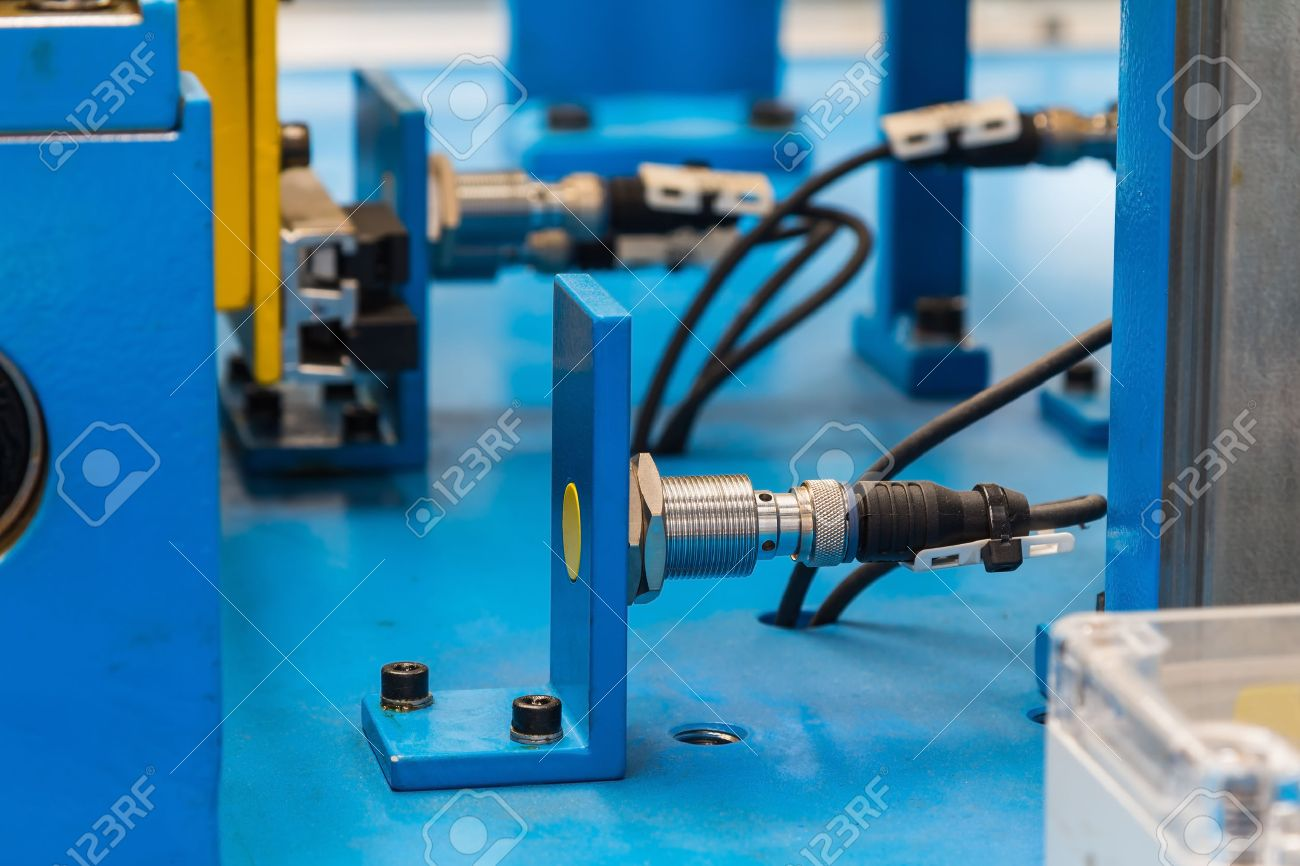 Inductive Proximity Sensor Or Proximity Switch Installed On The ...