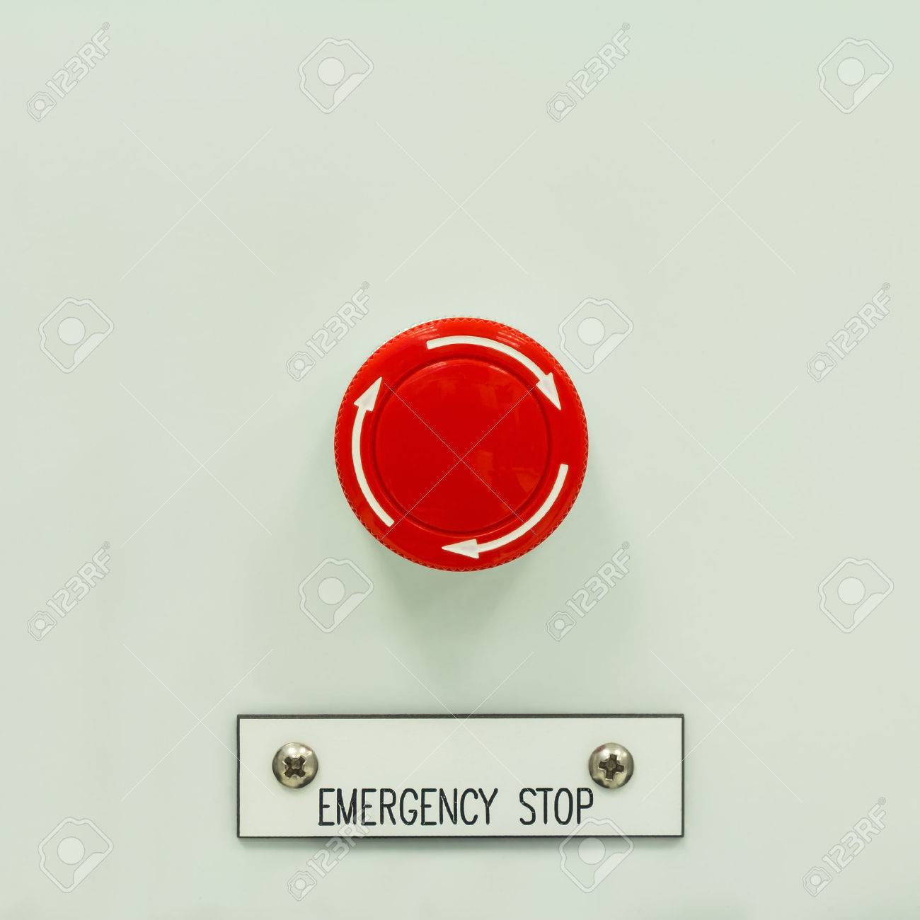 Close up of mushroom type emergency stop button switch an close up of mushroom type emergency stop button switch an electrical device for safety stock buycottarizona Images