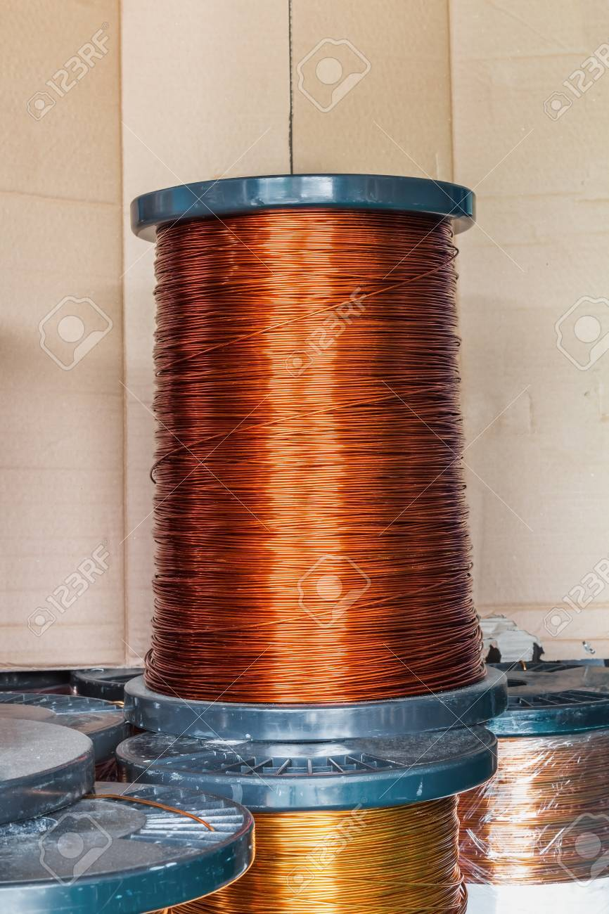 Round Enameled Copper Wire Or Magnet Wire In Spool Packaging ...