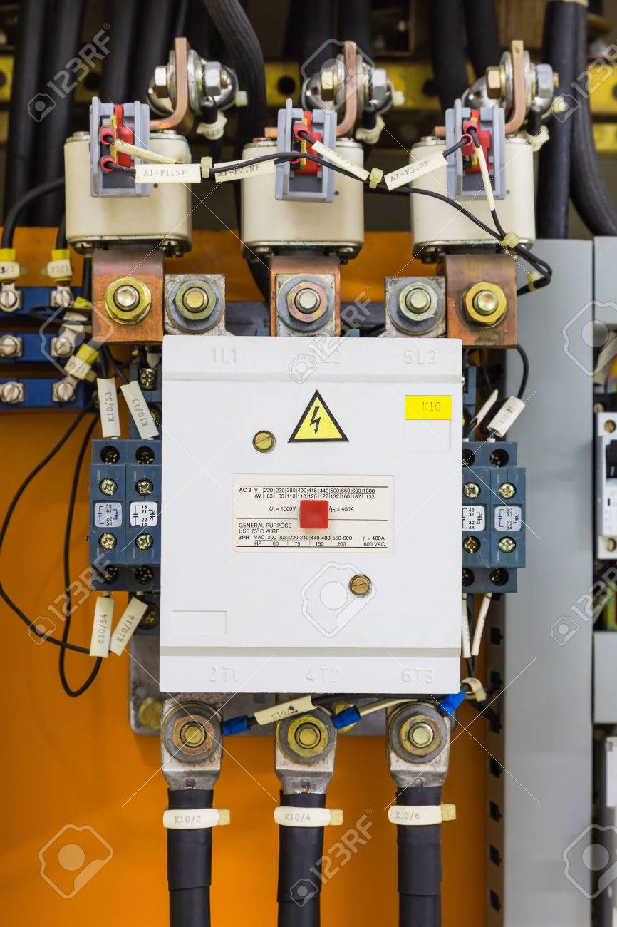 Three Phase Magnetic Contactor With Auxiliary Contacts And Power ...