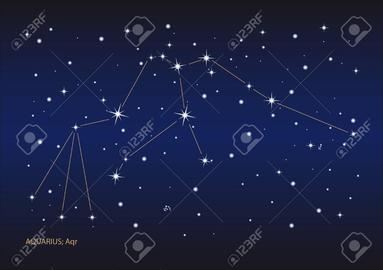 Illustration showing the aquarius constellation Stock Vector - 6506427