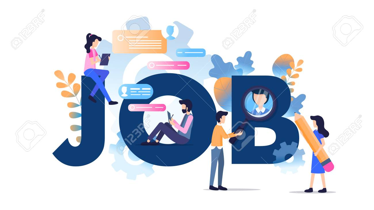 Freelance Character Modern Job Typography Banner Online Social Royalty Free Cliparts Vectors And Stock Illustration Image 124938057
