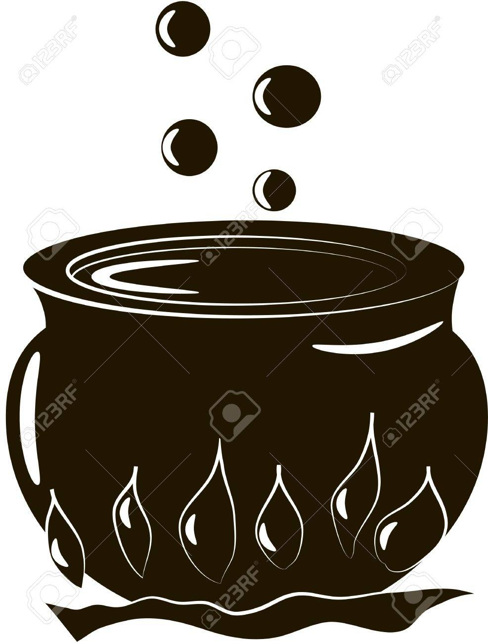 Halloween Cauldron Royalty Free Cliparts, Vectors, And Stock ...