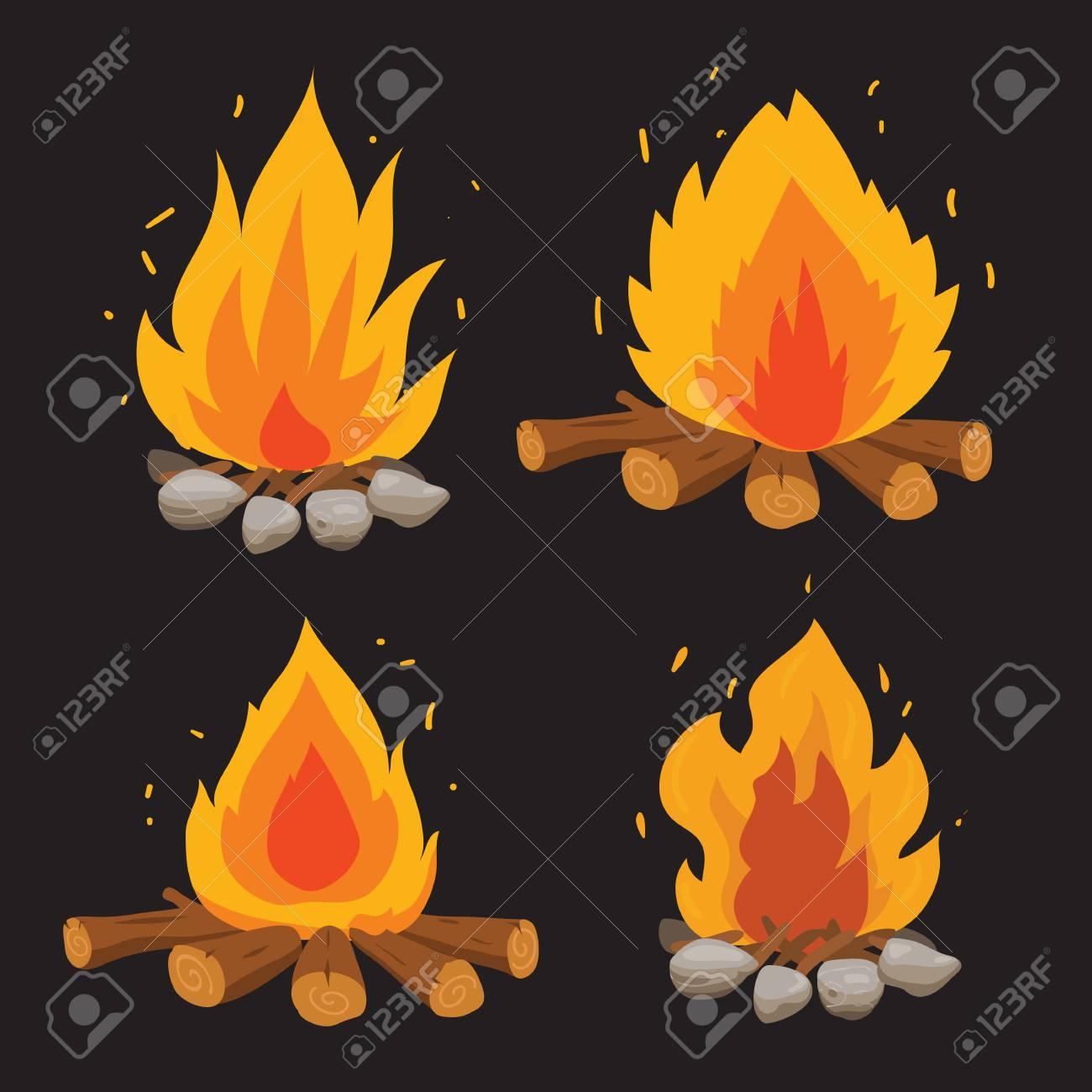 fire vector collection design, bonfire vector collection design - 105003020