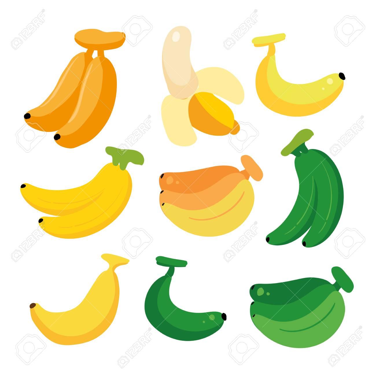 banana vector collection design, fruit vector collection design - 112276415