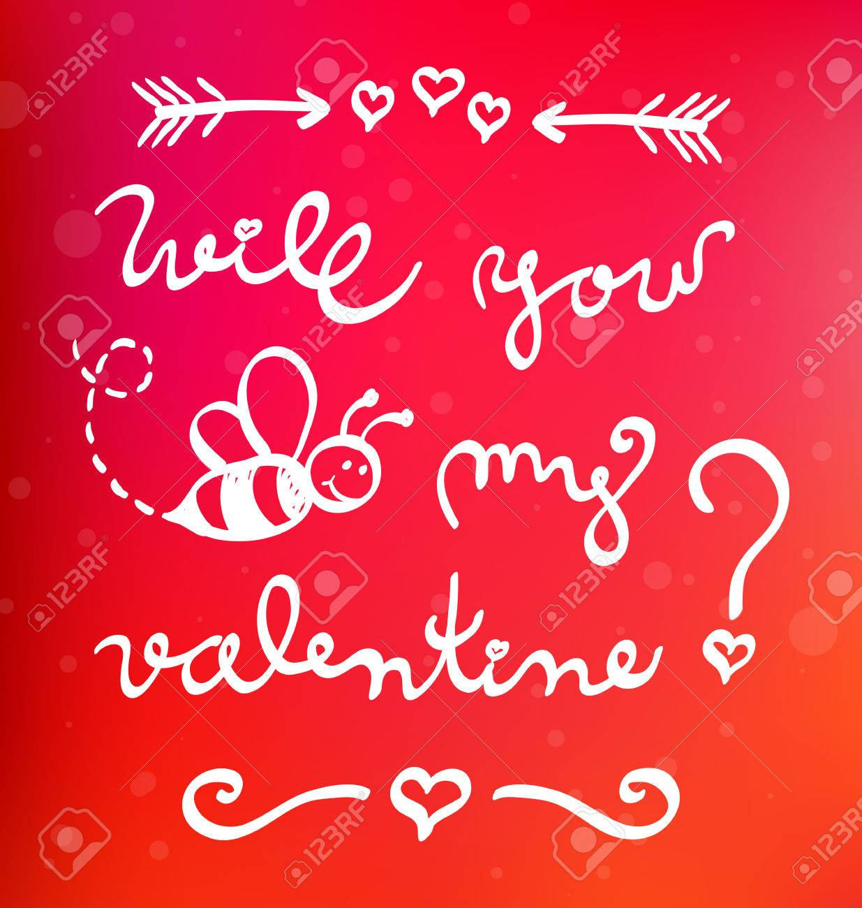 Funny Valentine Card Will You Bee My Valentine Royalty Free – Be My Valentine Funny Cards