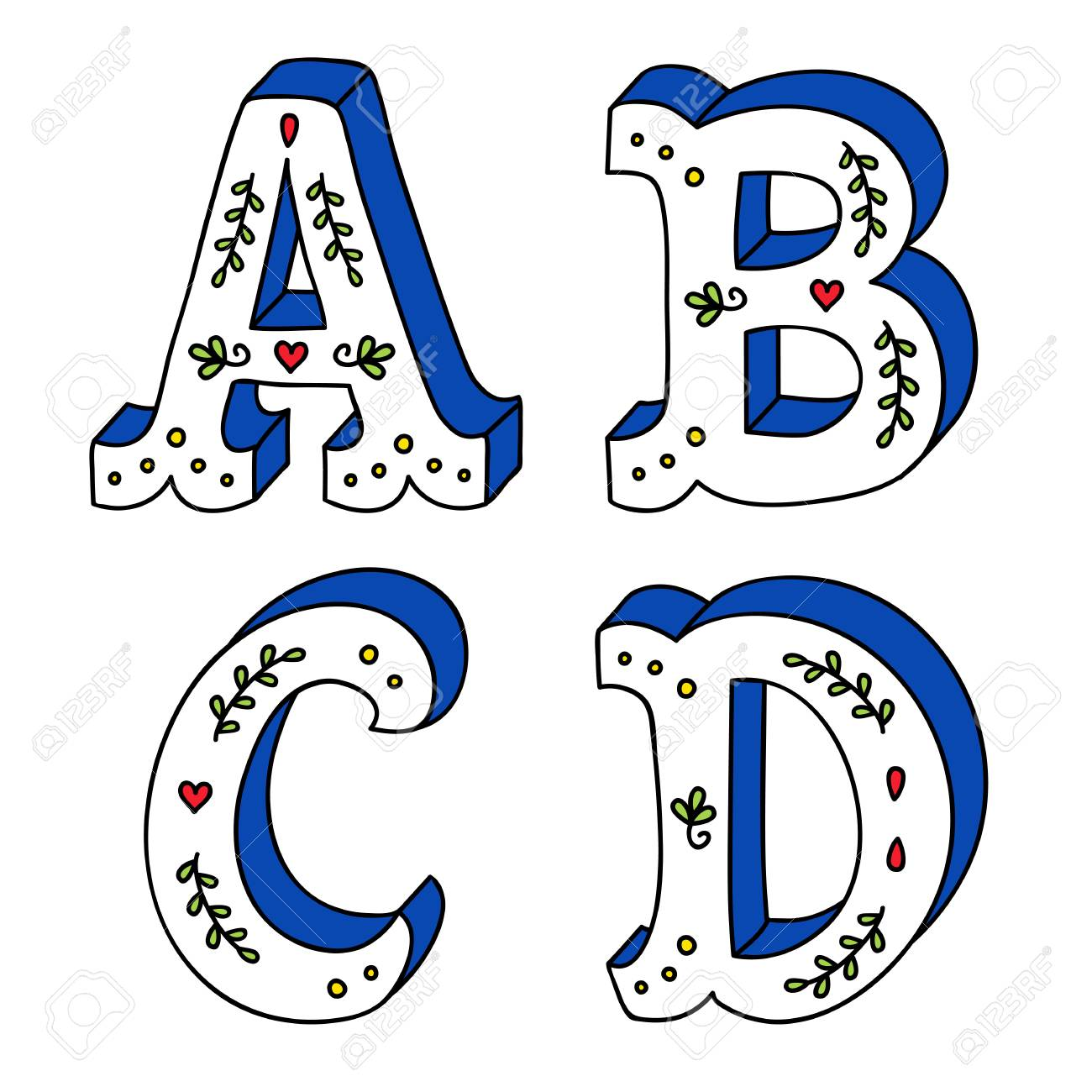 hand lettering drawing set of cute letters with decorative ornaments rh 123rf com ornaments vector illustration ornament vector file for cnc v-bit carving