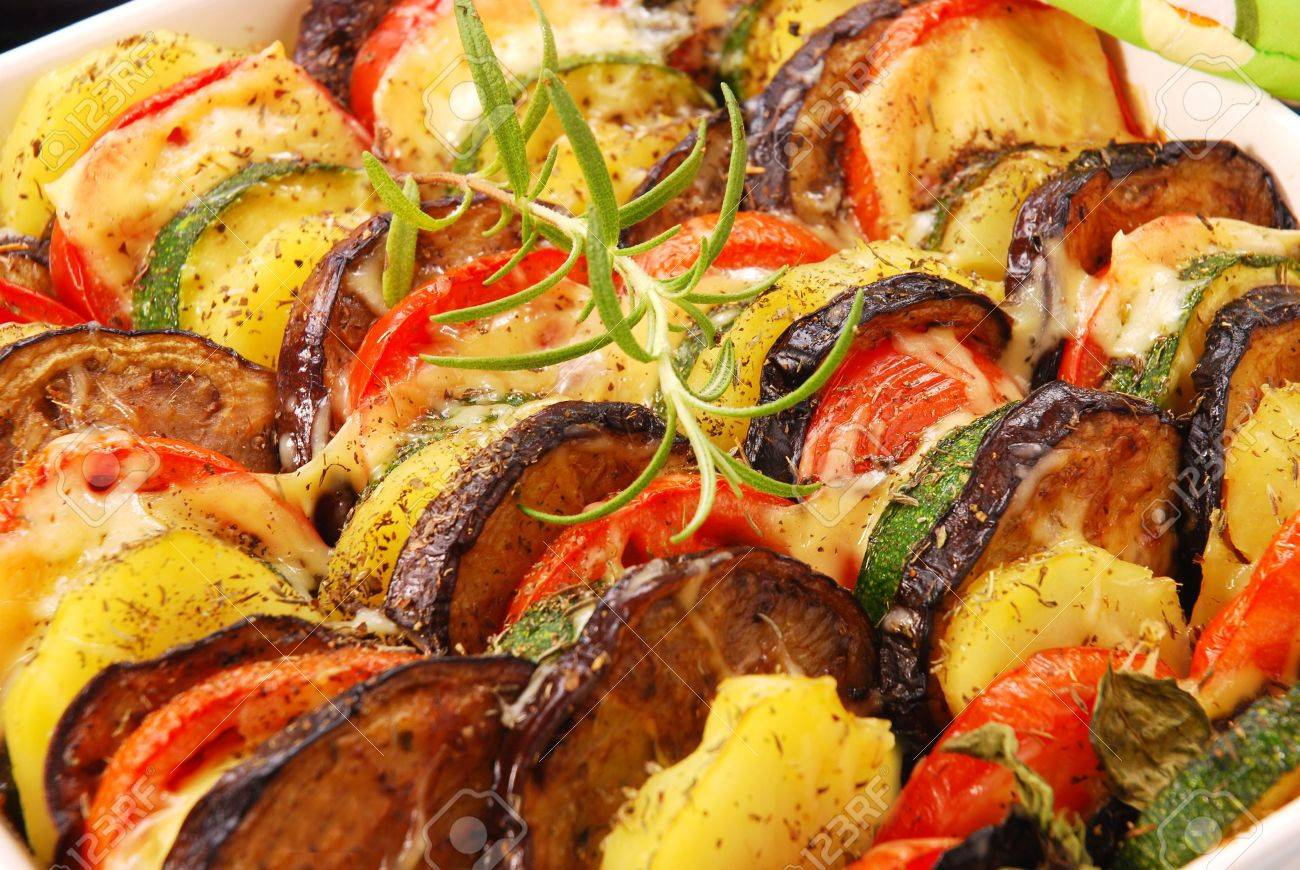 Овощи запеченные в духовке с фото пошагово с сыром
