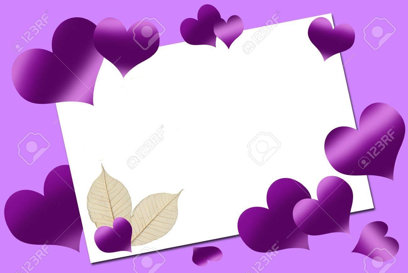 Purple Hearts Wedding and purple hearts around