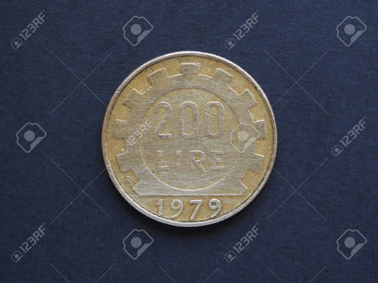 Italienische Lira Itl Münze Währung Von Italien It 200 Lire