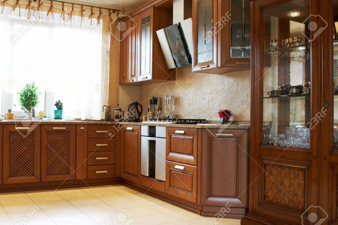 Beautiful And New Kitchen In The Modern House Stock Photo 908415