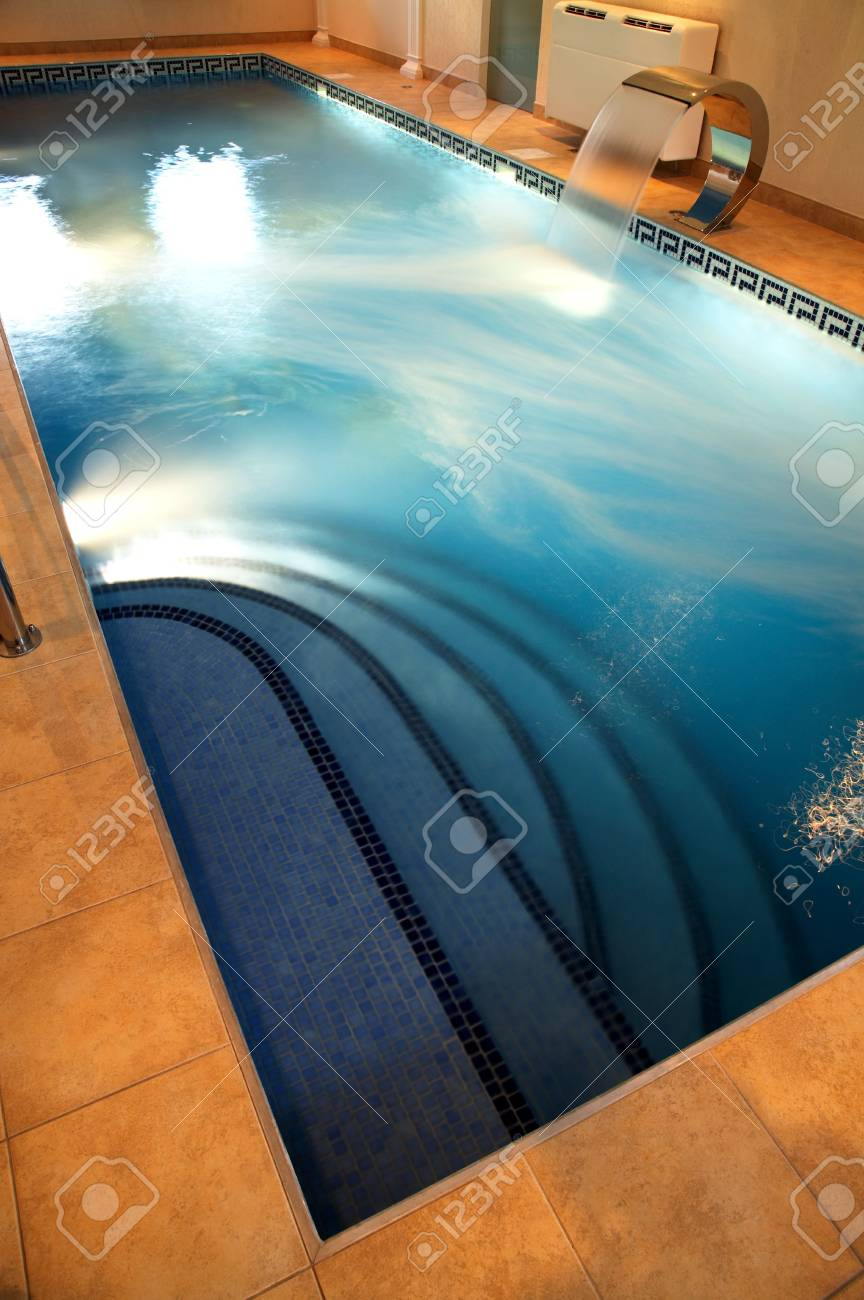 Beautiful pool with current water in modern hotel Stock Photo - 1327086
