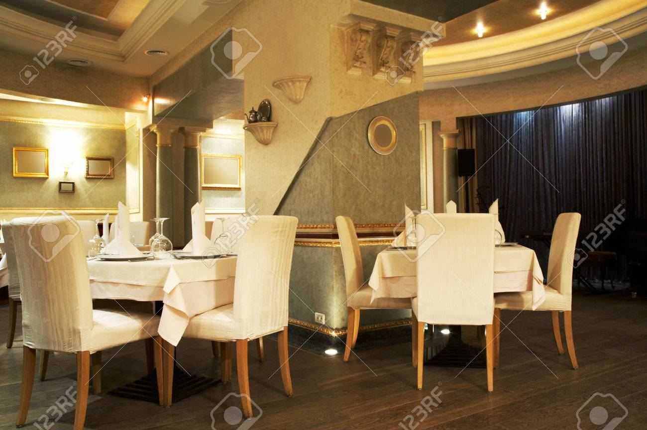 Beautiful and luxurious restaurant in modern hotel Stock Photo - 1380049