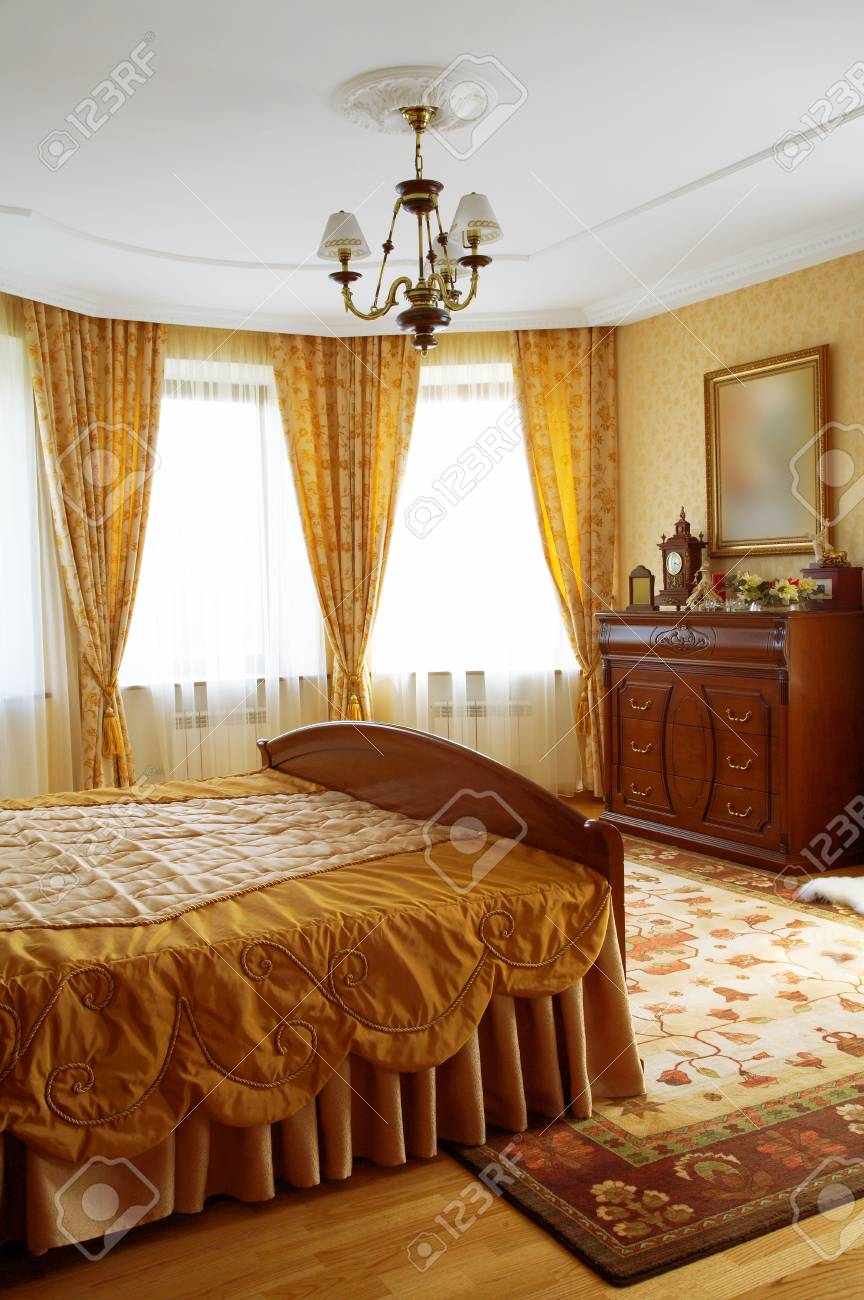 Beautiful and modern bedroom in fashionable hotel Stock Photo - 2058697