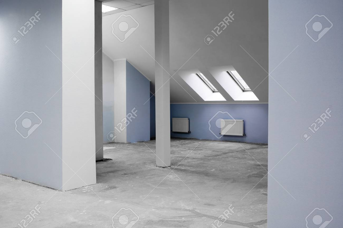 Greater room of modern under construction office Stock Photo - 2534288