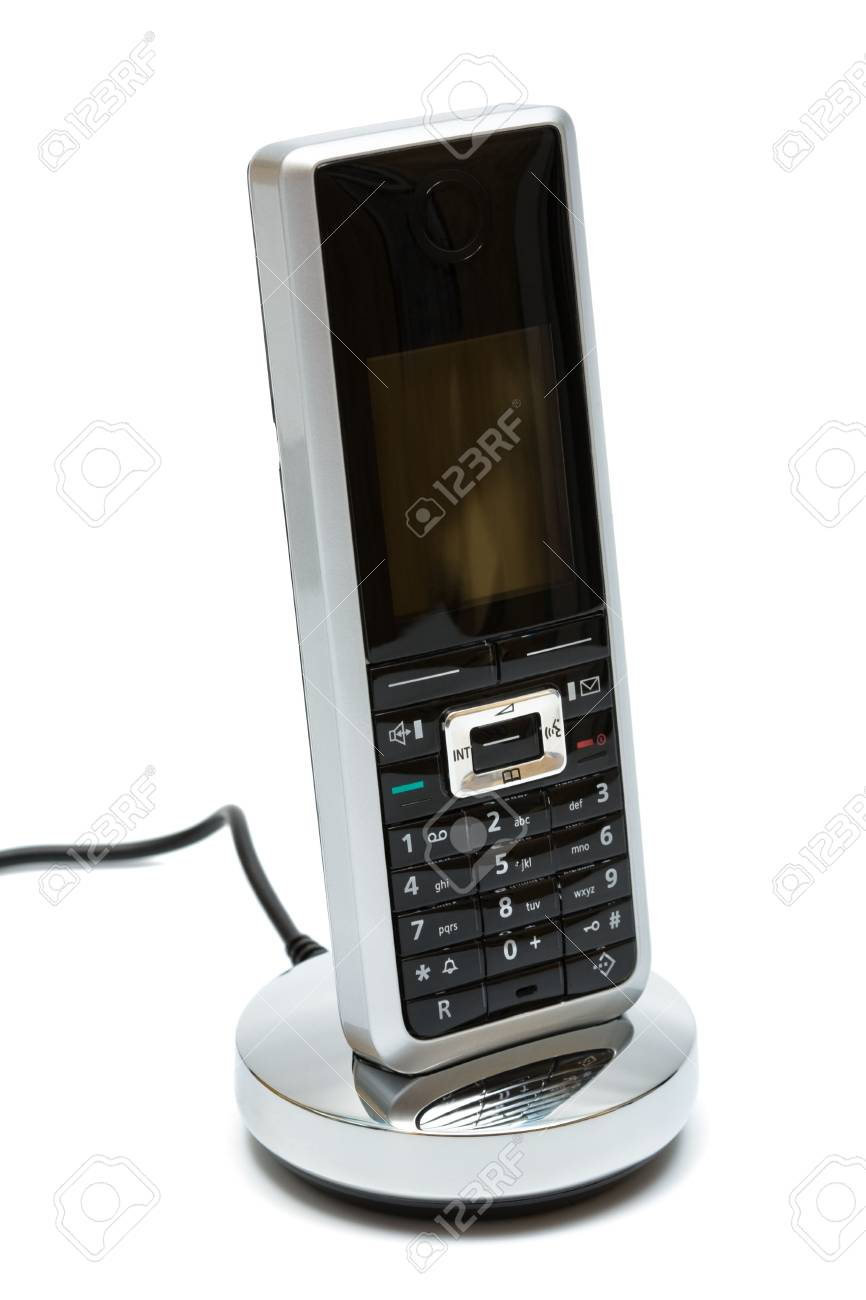 Modern mobile phone on a white background Stock Photo - 3940602