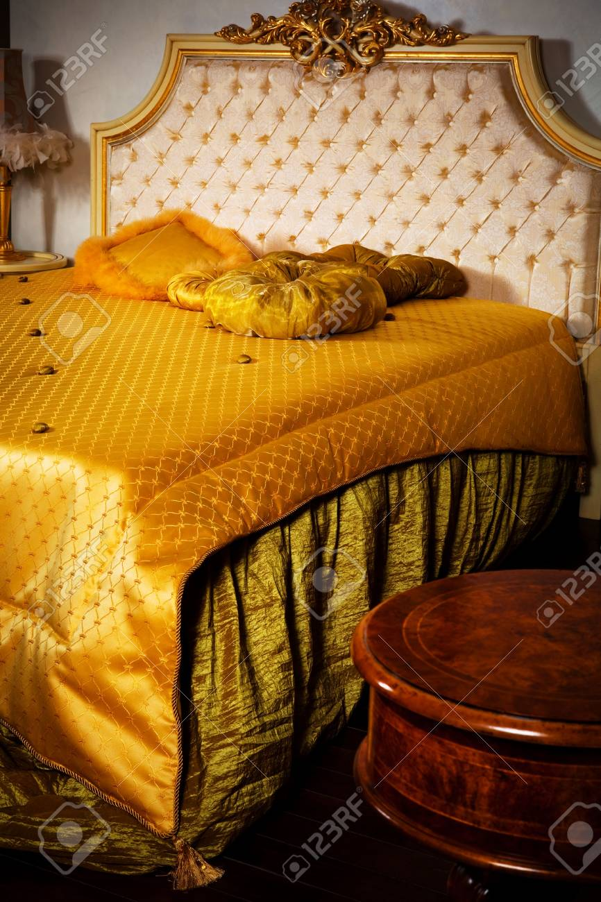 Stylish Double Bed In A Modern Bedroom Stock Photo Picture And Royalty Free Image Image 5952306