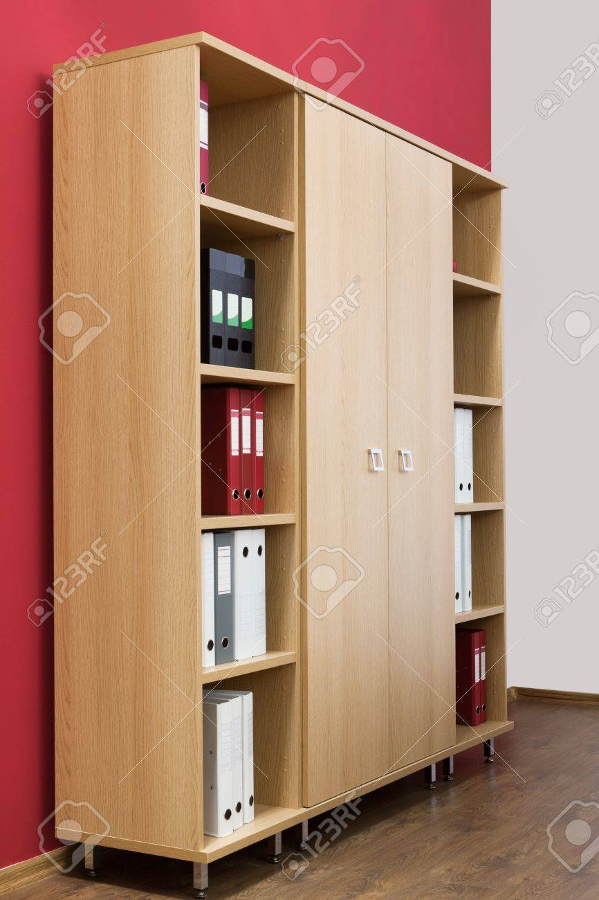 bookcase with folders in a modern office Stock Photo - 12866004