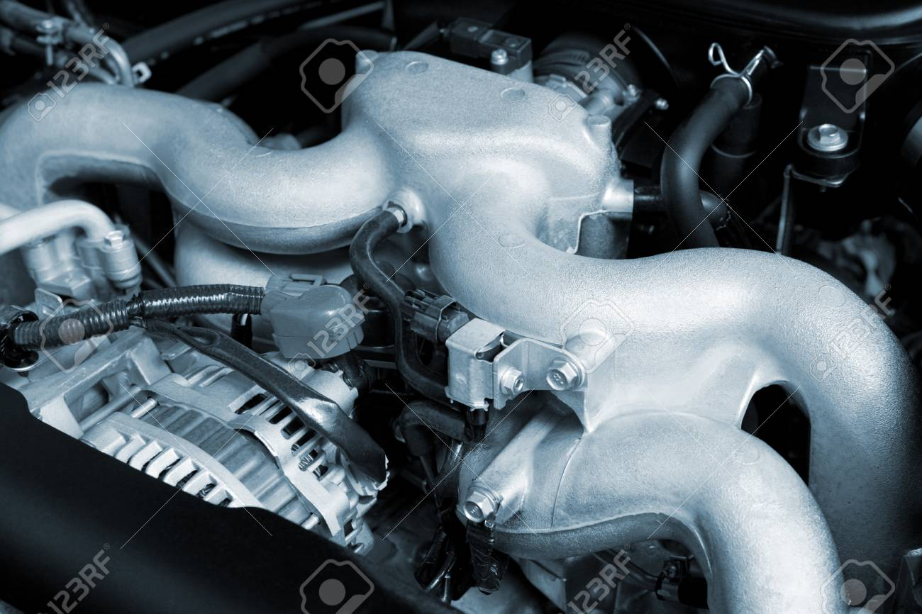 The powerful engine of the modern car Stock Photo - 13026414