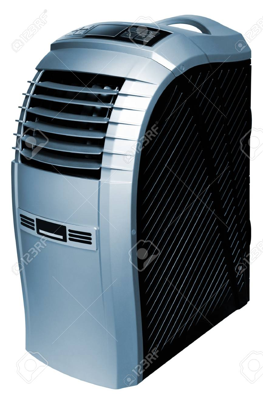 The modern mobile air-conditioner on a white background Stock Photo - 13080918