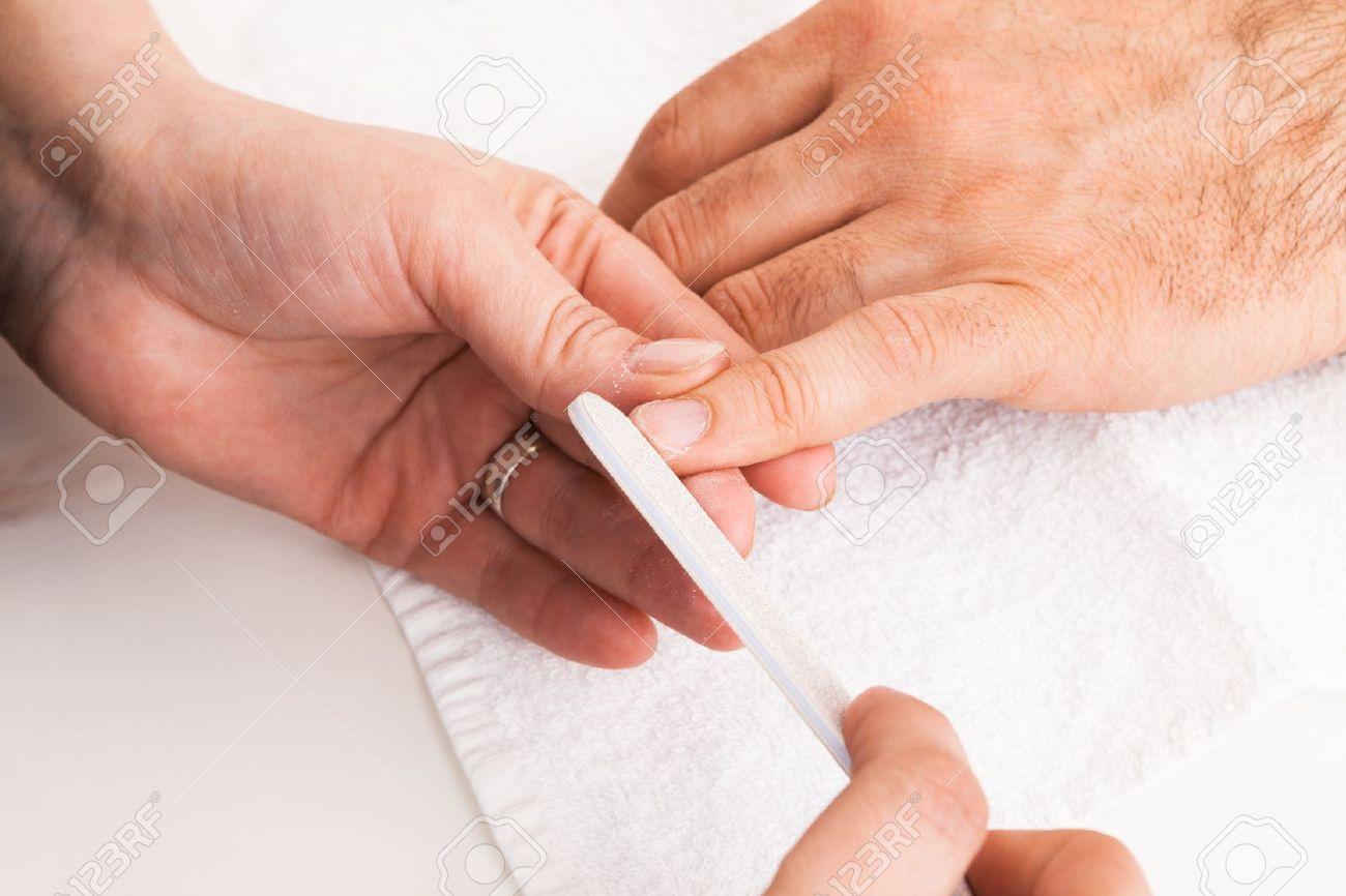 Manicure man close-up to the beauty salon Stock Photo - 14830738
