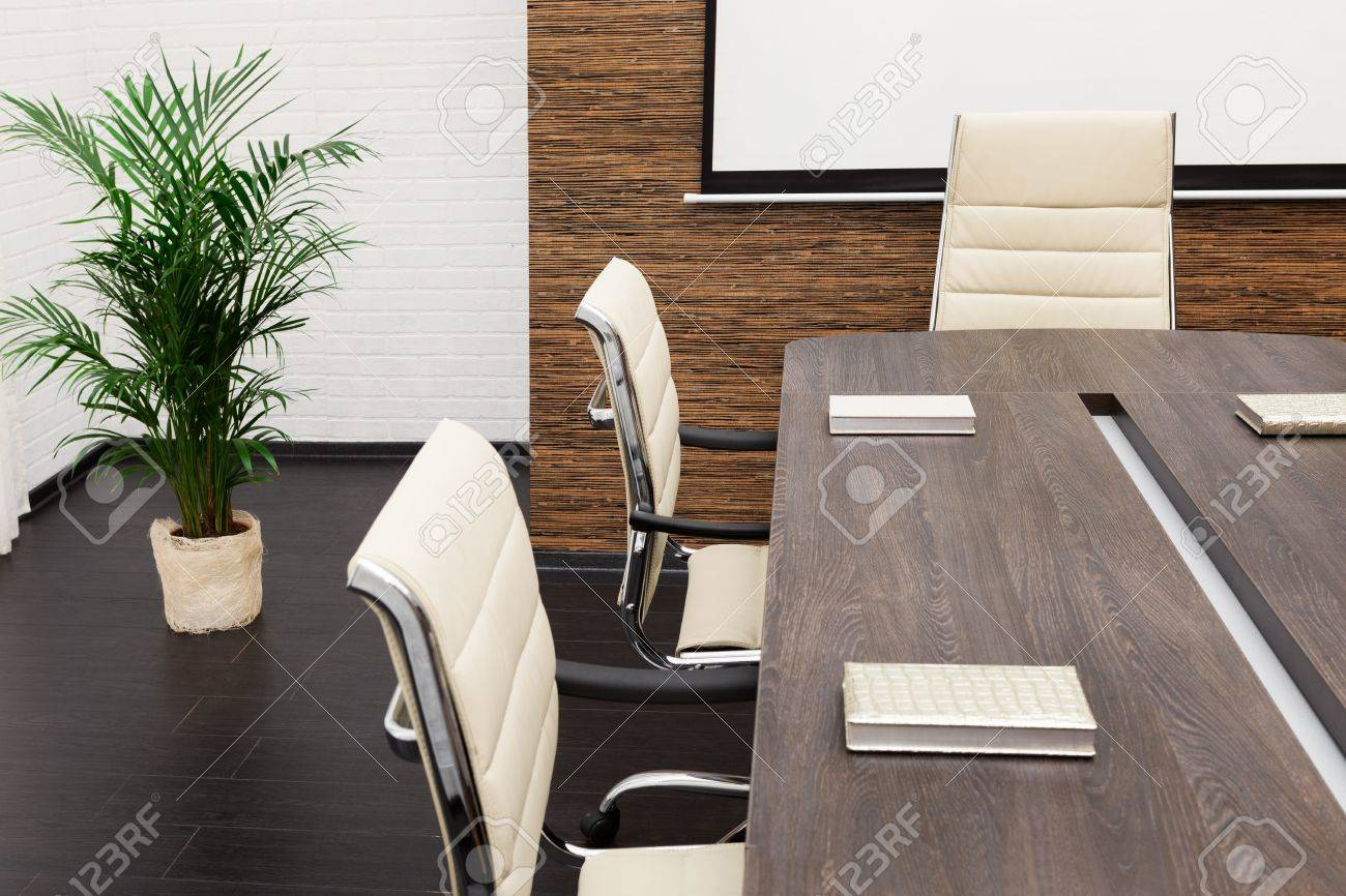 A Large Table And Chairs In A Modern Conference Room Stock Photo   15499054