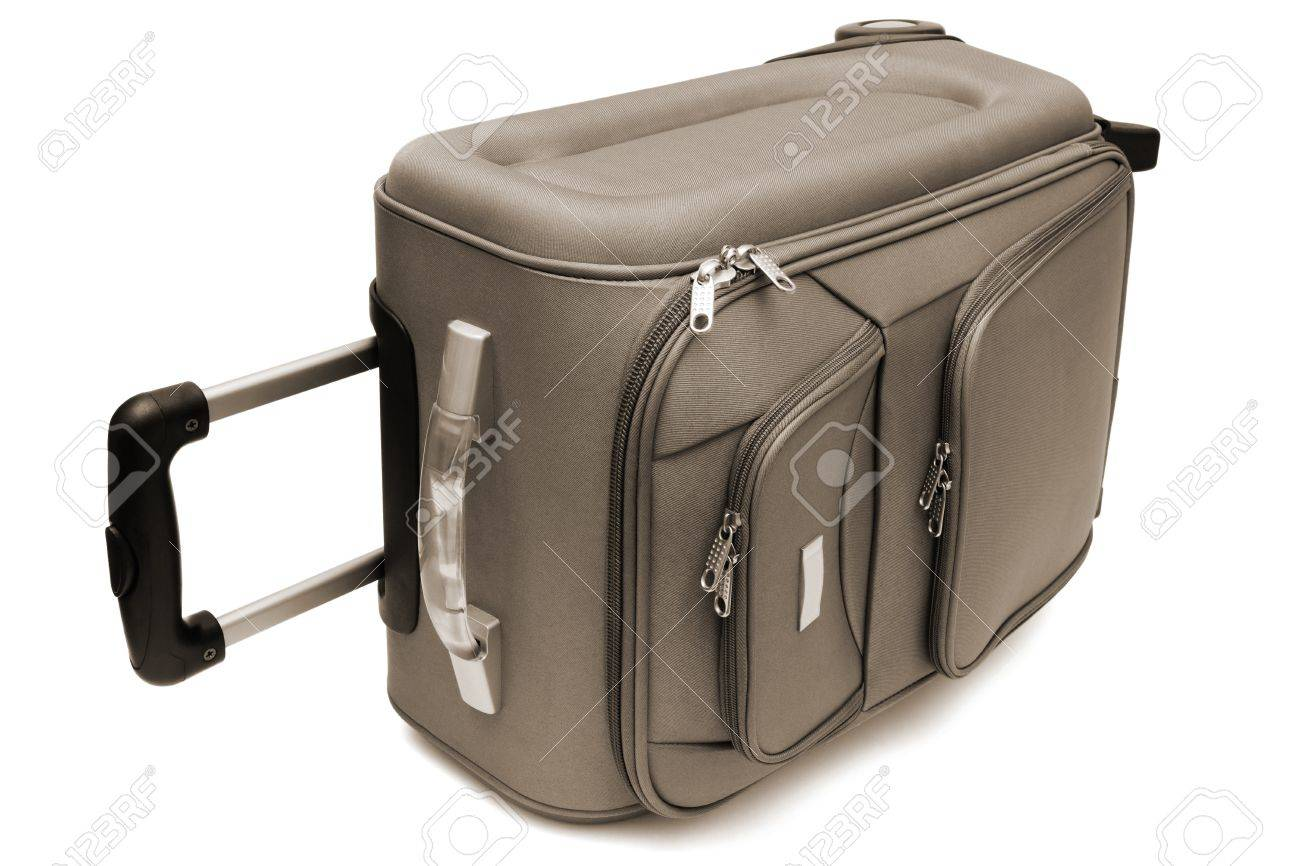 modern large suitcase on a white background stock photo picture  - stock photo  modern large suitcase on a white background