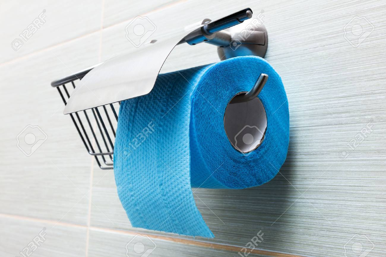 Toilet Paper Holder In The Modern Bathroom Stock Photo Picture And