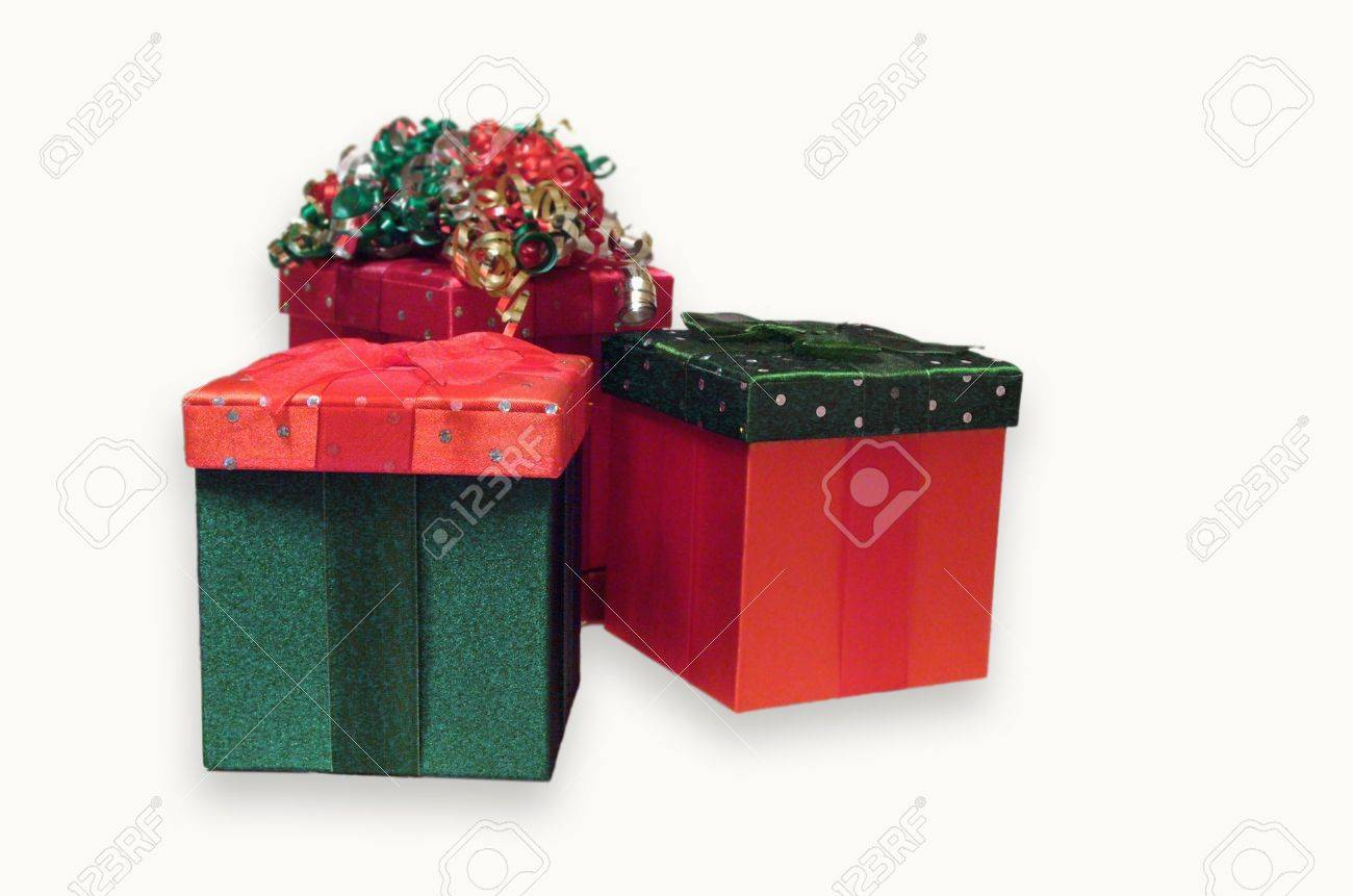 De Kleur Rood : Drie vakantie cadeau doosjes in de kleuren rood en groen fluweel