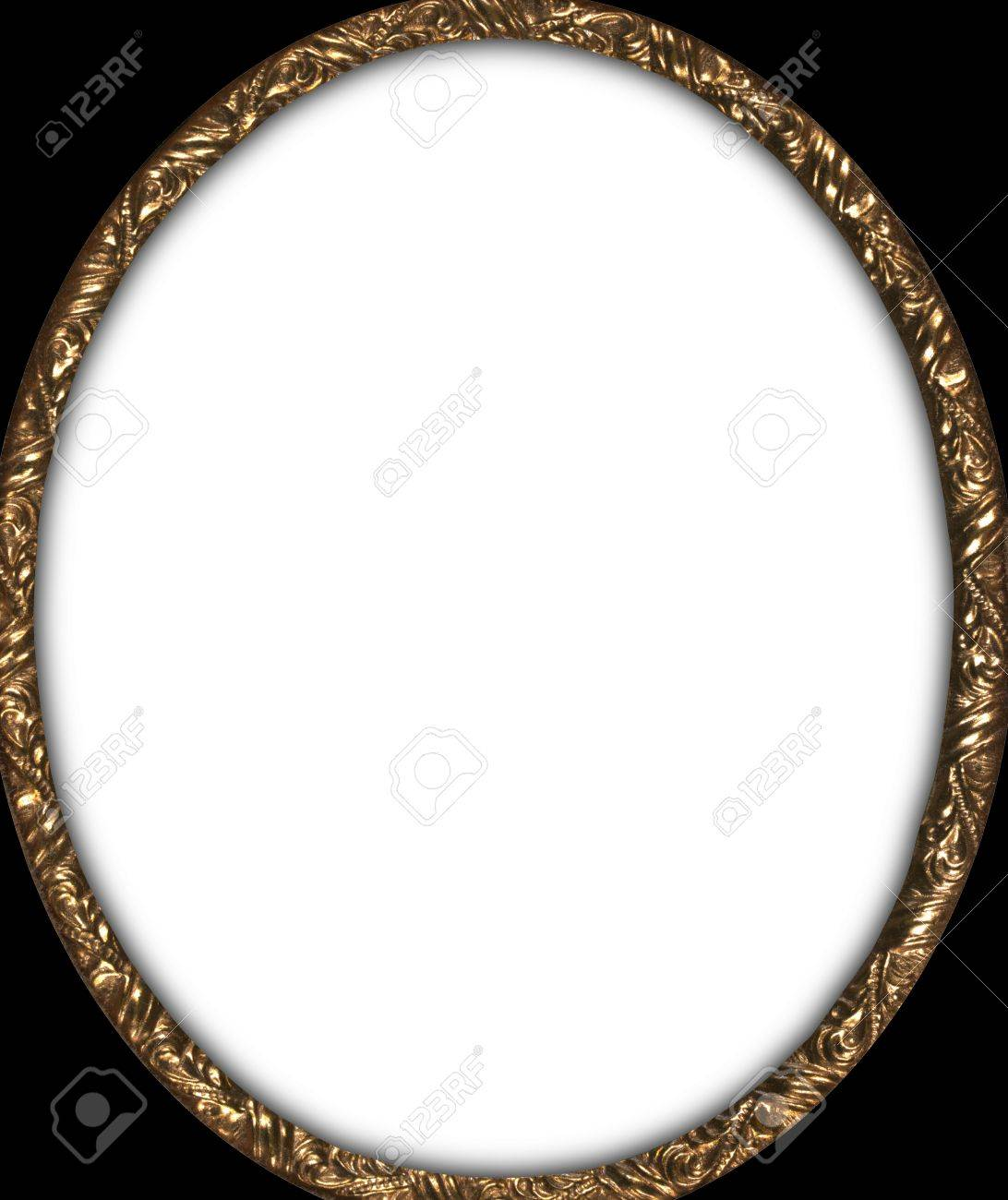 Antique Oval Photo Frame Circa1850 Stock Photo, Picture And Royalty ...