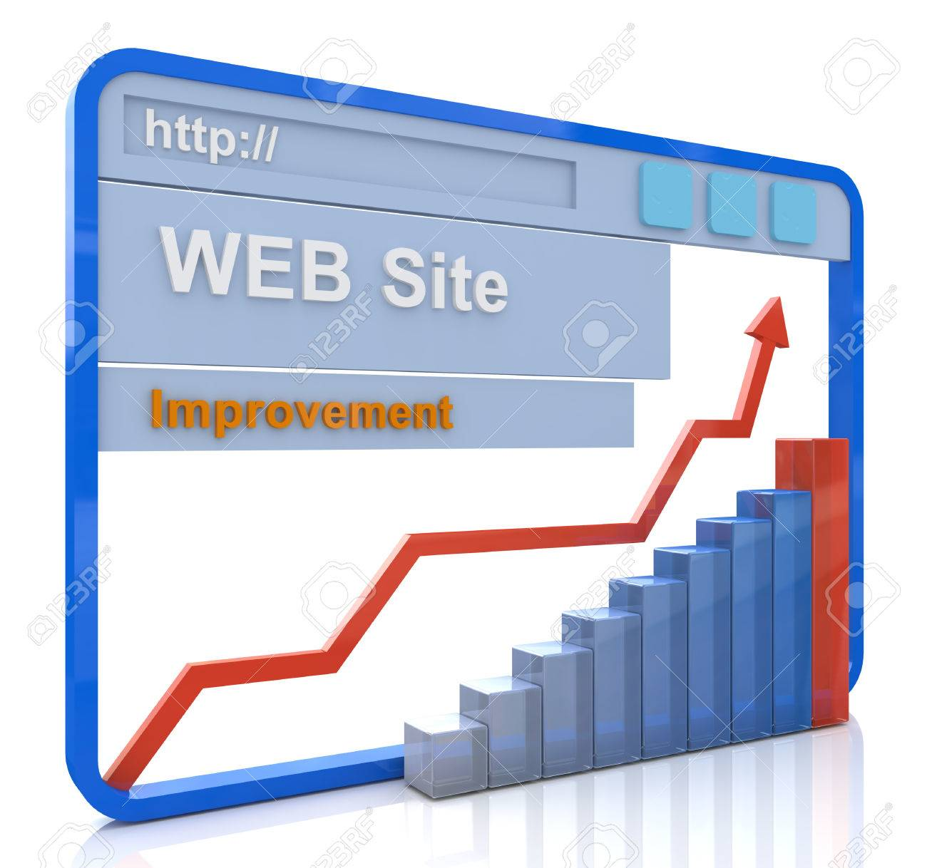 Improvement Website Concept, Upgrading Website To New Generation ...