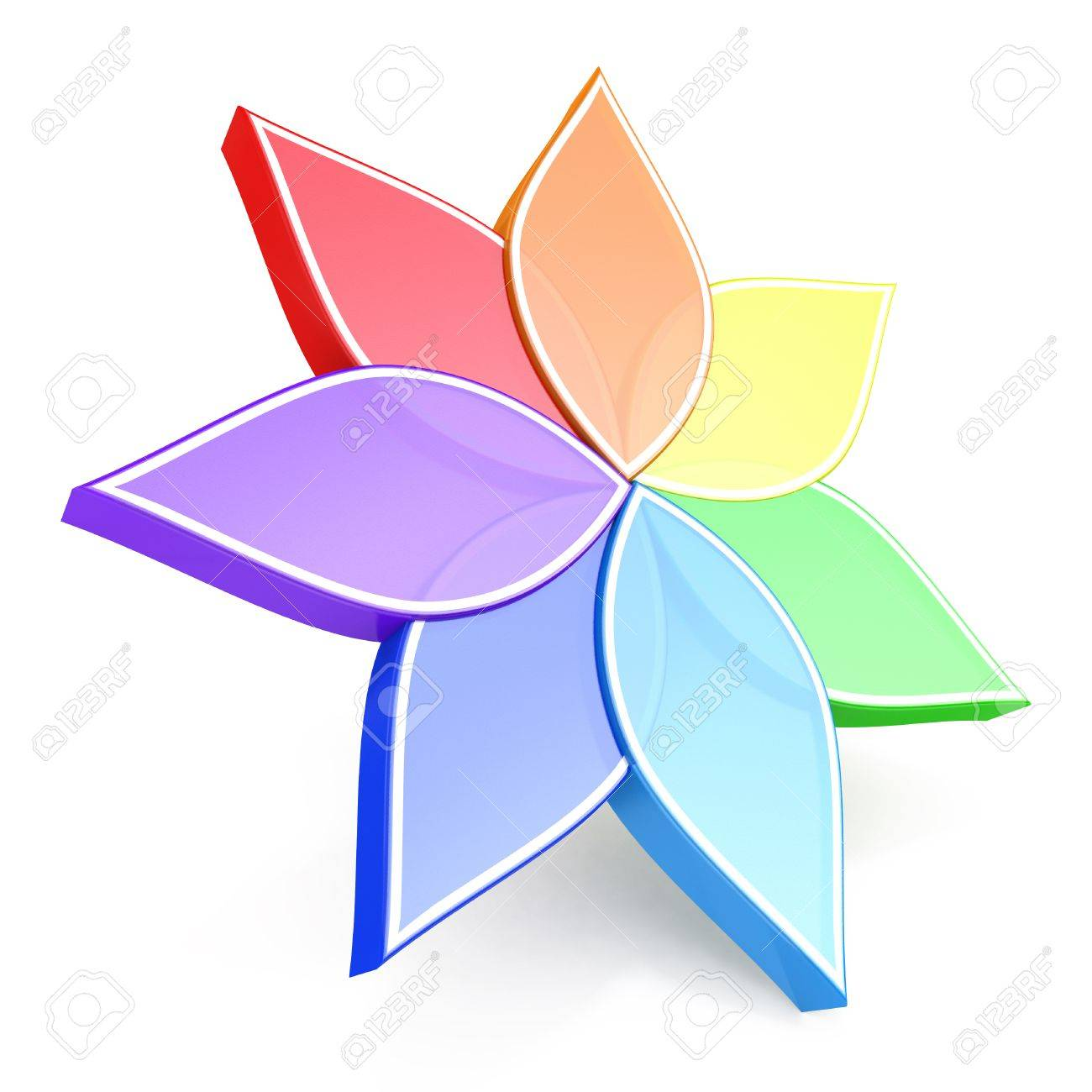 Flower Color Wheel 3d In The Design Of Information Related To