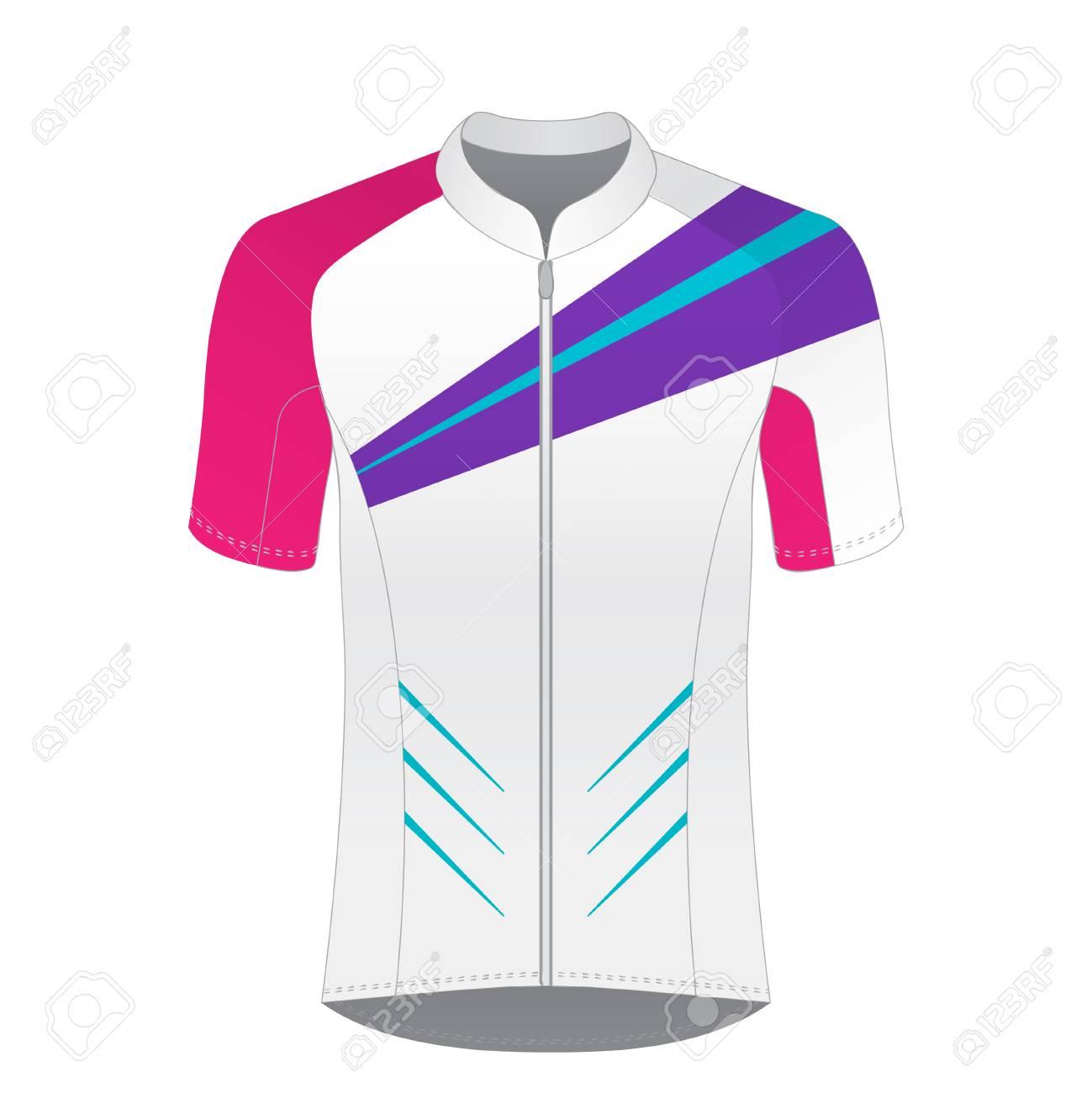 Cycling jersey mockup. T-shirt sport design template. Road racing uniform  blank. 197193d6f