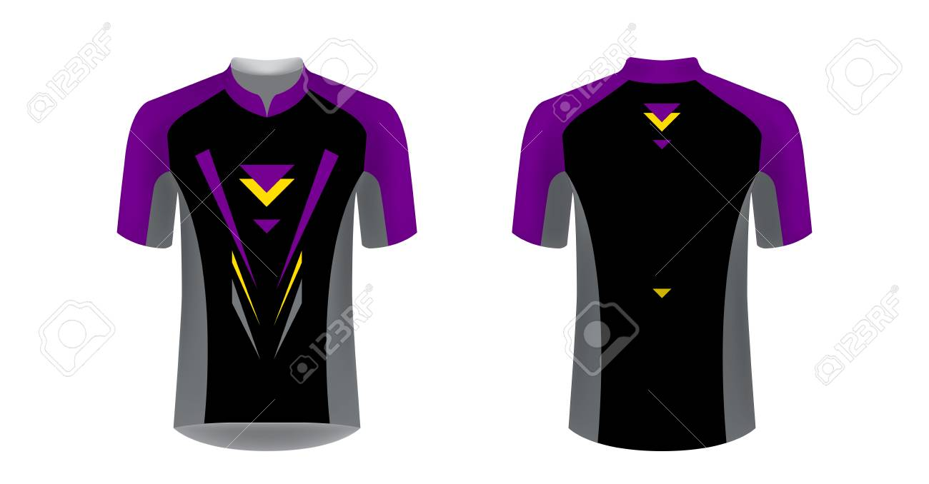 Cycling Jersey vector mockup  T-shirt sport design template
