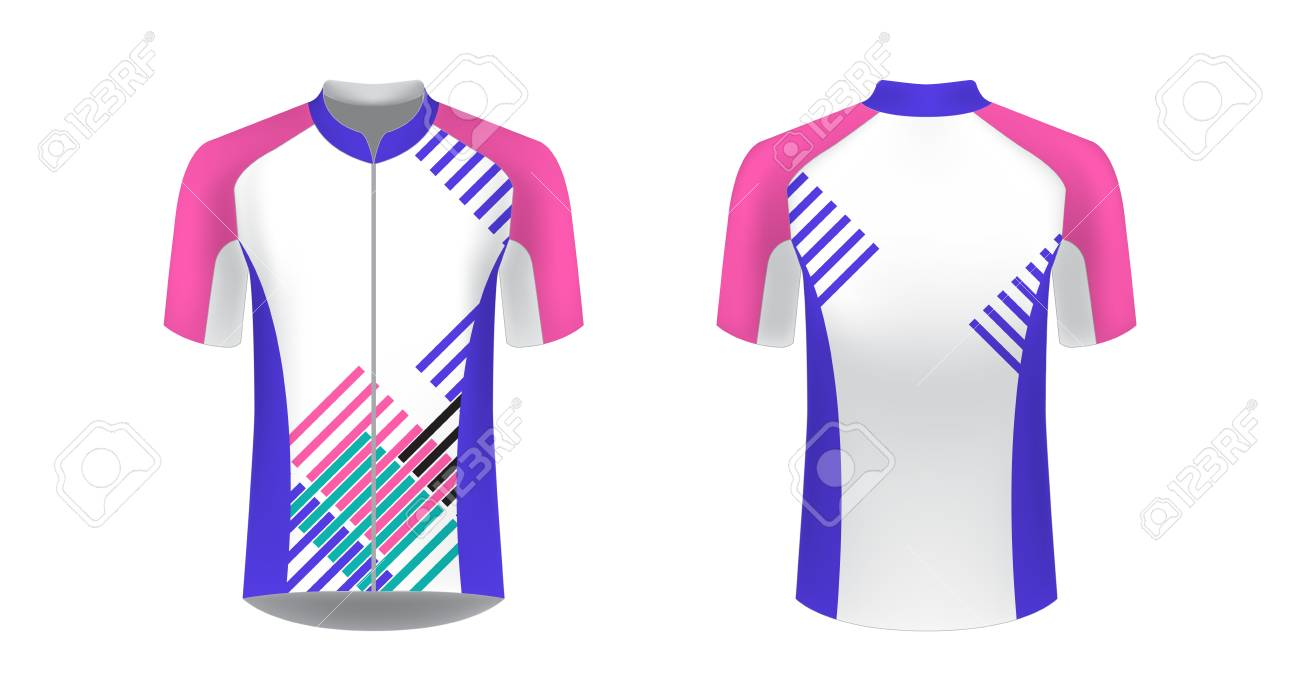 Cycling Jersey Vector Mockup T Shirt Sport Design Template Royalty Free Cliparts Vectors And Stock Illustration Image 127637026
