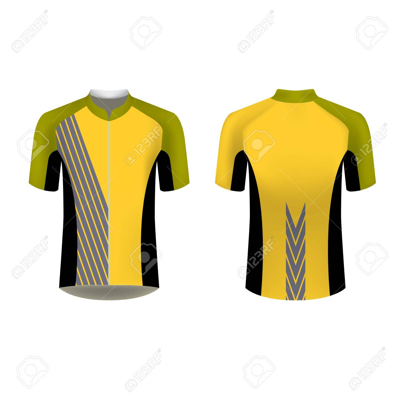 Cycling Jersey Mockup T Shirt Sport Design Template Sublimation Royalty Free Cliparts Vectors And Stock Illustration Image 127959895