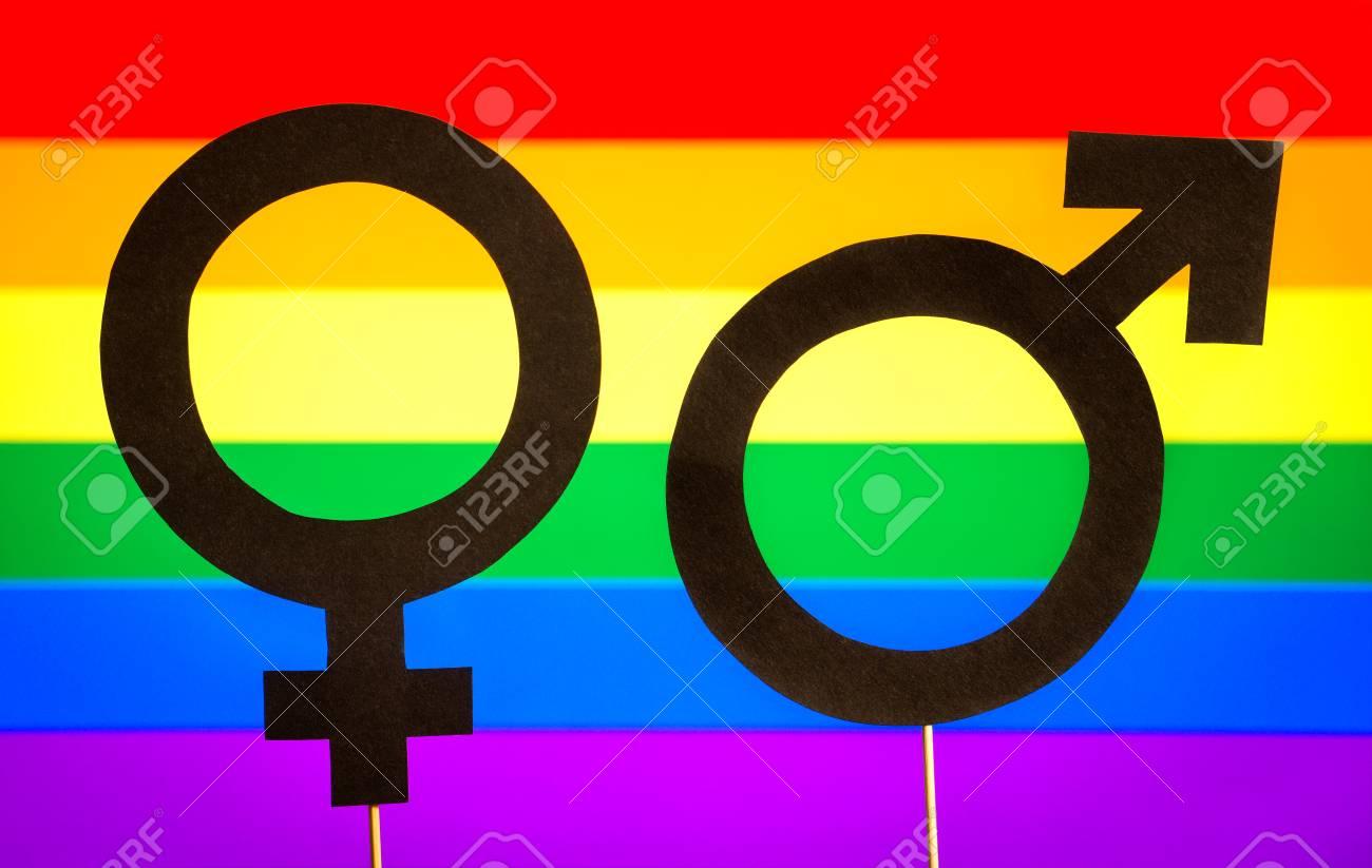 Gender symbols with lgbt rainbow flag background gay pride gender symbols with lgbt rainbow flag background gay pride homosexuality and sexual minority buycottarizona