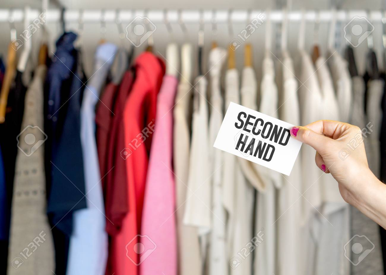 Second Hand Clothing Shop. Stock Photo, Picture And Royalty Free Image.  Image 95505072.